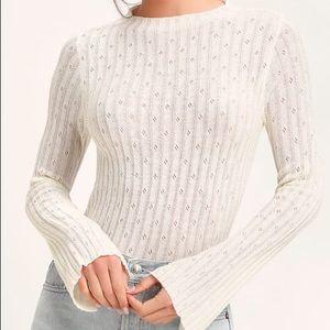 Lulus White Sweater Top